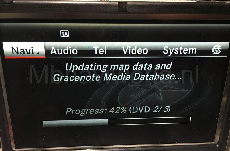 Mercedes Comand Online NTG4 7 probleem met updaten