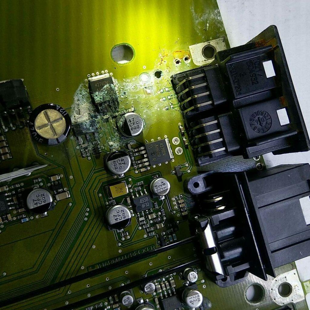 Amplificatore Harman Kardon w221 danni causati dall'acqua