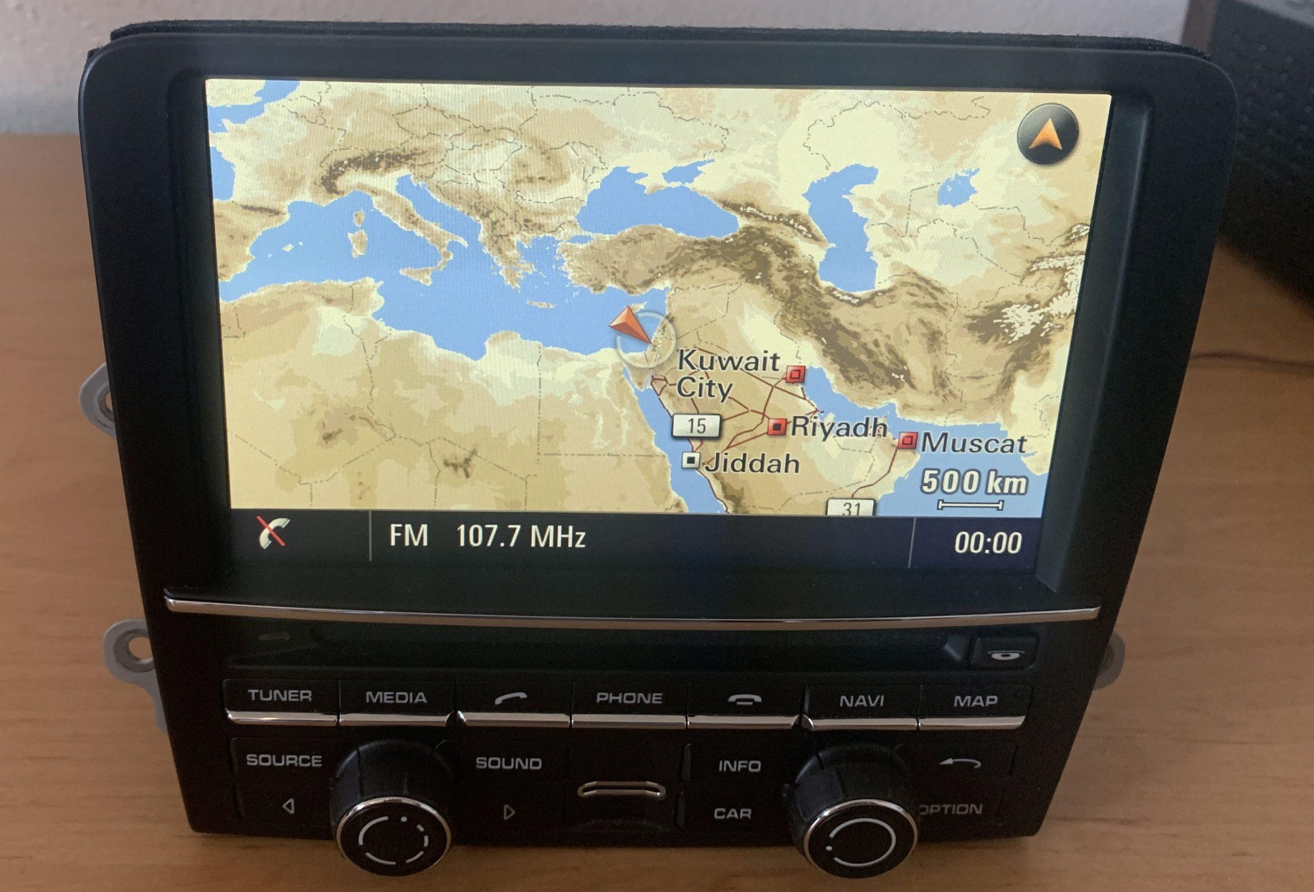porsche navigation conversion arabic