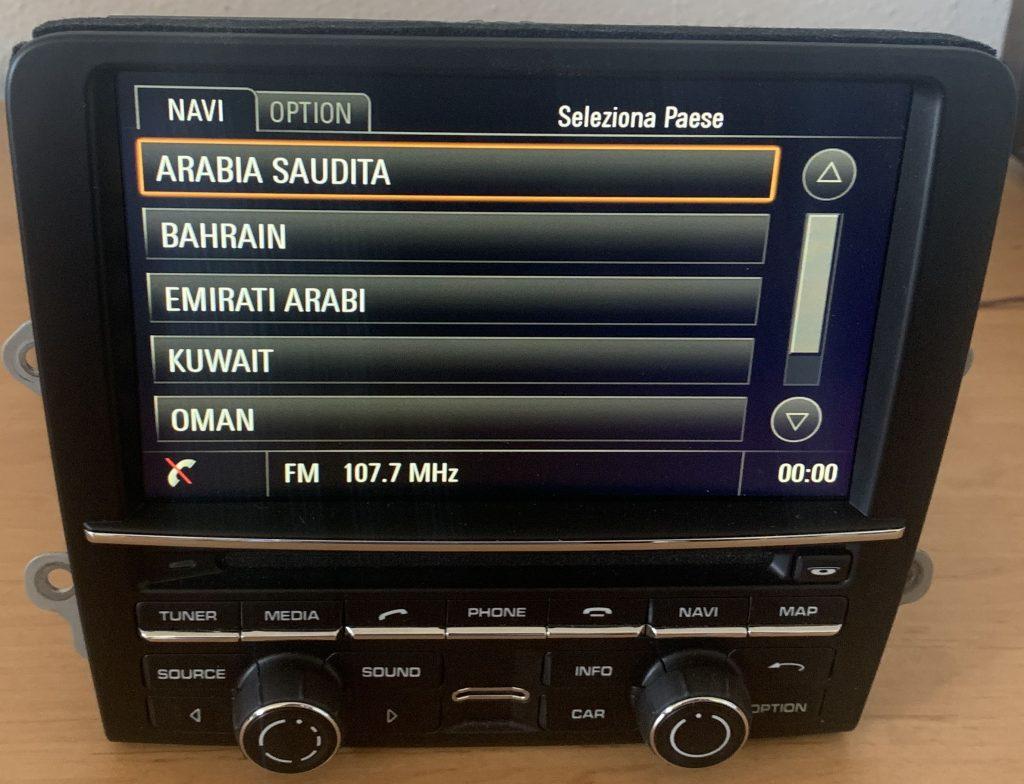 Porsche Navigation conversion Arab Middle East